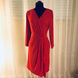 Michael Kors Red Asymmetrical Dress